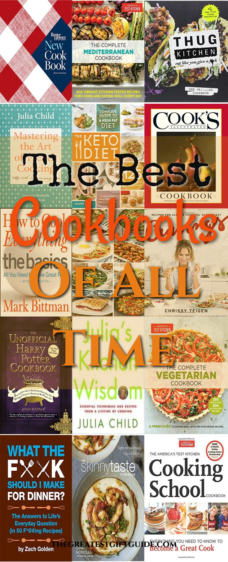 The best cookbooks of all time. No secret cookbooks make great gifts. The best cookbooks for beginners, the cookbooks everyone should have and unique cookbooks.