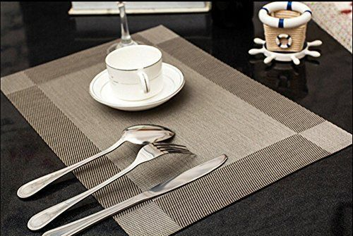 10 Best Placemat Sets Farmhouse Dining Table Set Stain Resistant Table Mats