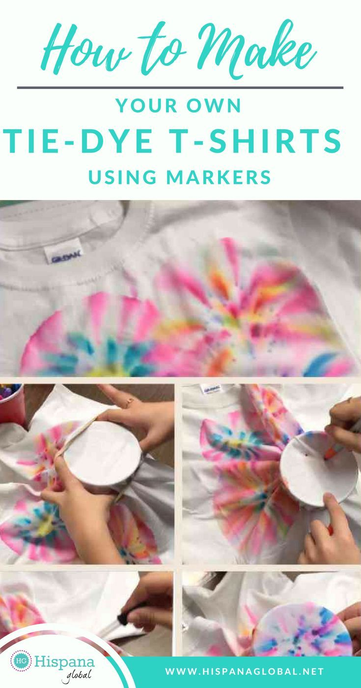 4cf7bf94960 Have you always wanted to make your own tie-dye t-shirts using markers