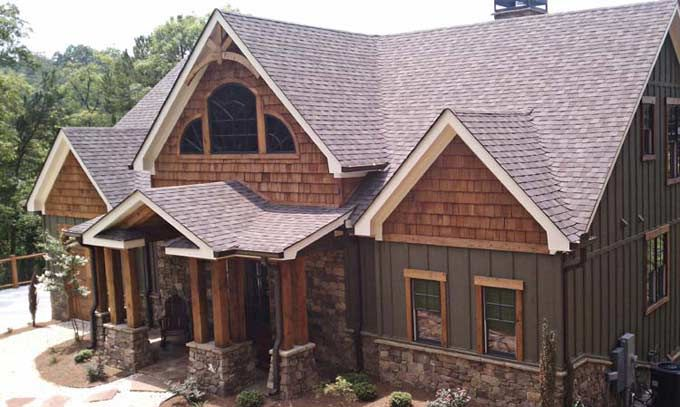 rustic cabin meets cottage style | Lake House Plans and Lake Cabin Plans | Max Fulbright Designs