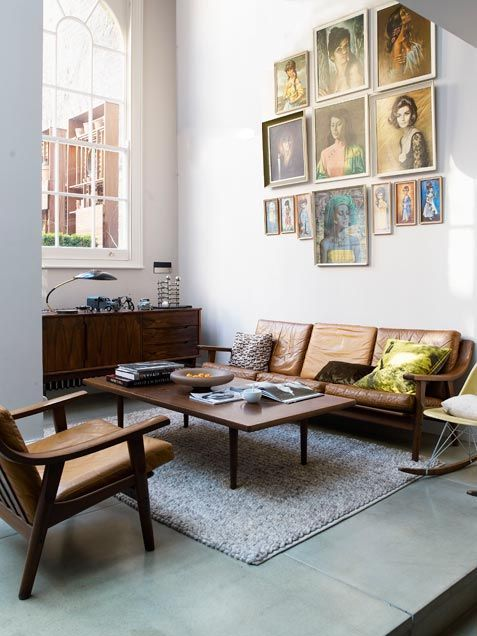 credenza, table, couch