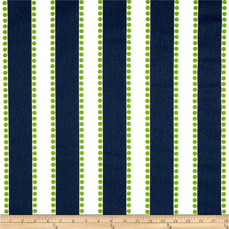 "Master bedroom valances (which I paired over white sheer curtains) - Navy Blue and lime green striped Valance One Valance 52"" by 15"" by BlueCurtainBluebird on Etsy"
