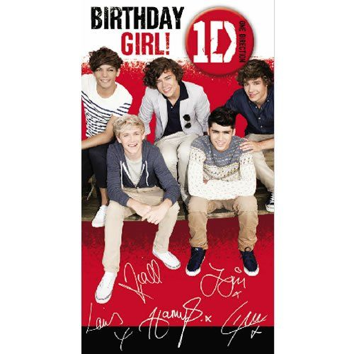 44 best 1Direction Birthday images – One Direction Personalised Birthday Card
