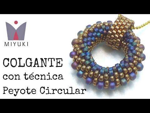 (1) Colgante de Miyuki con Técnica Peyote Circular - YouTube