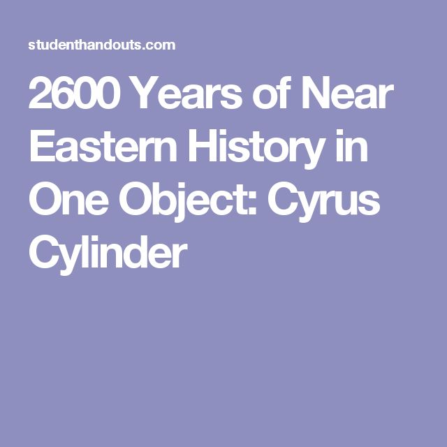 2600 Years of Near Eastern History in One Object: Cyrus Cylinder