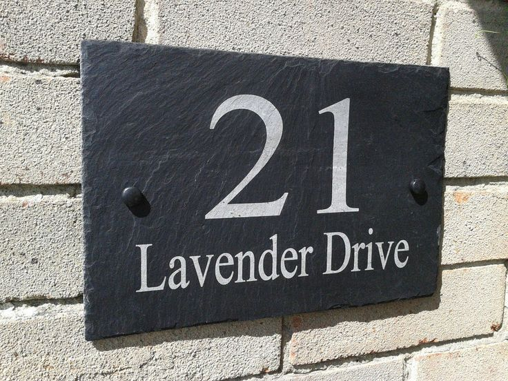 Personalised Slate House Door Gate Number Sign Plaque Any Name & Number (A-3)
