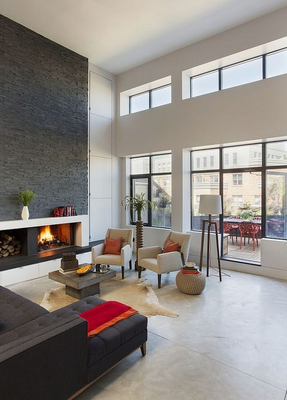 Nyc Loft Room Entertainment Wall Ideas With Fireplace Interior Design: Best 25+ New York Loft Ideas On Pinterest