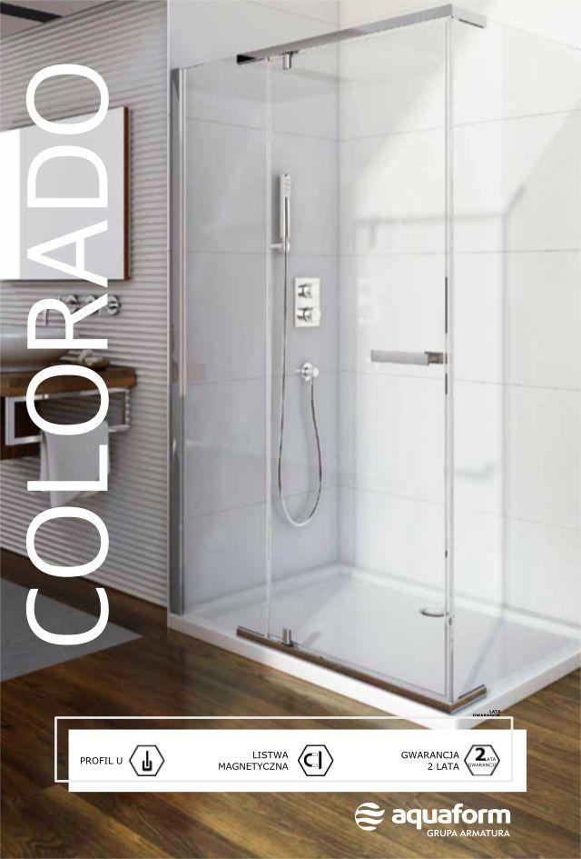 Oto propozycja dla wielbicieli prostych form i niekonwencjonalnych dodatków. Znakiem rozpoznawczym kabiny Colorado jest bowiem chromowany, ułożony poziomo wyrazisty uchwyt. Prosto i jednocześnie oryginalnie. #Aquaform #Colorado #kabina #design #prysznic #łazienka #bathroom #interior #wystrójwnętrz #trendy