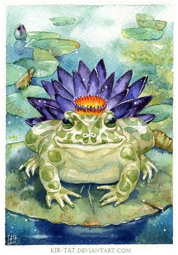 The toad by kir-tat.deviantart.com on @deviantART