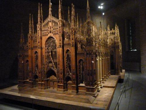 Il Duomo in un modello ligneo realizzato da Luca Beltrami fra 1889 e 1891