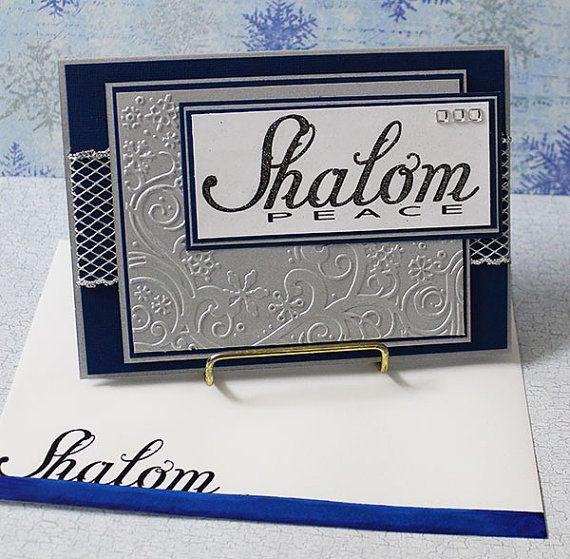 Hanukkah, Shalom - Handmade Greeting Card                                                                                                                                                                                 More