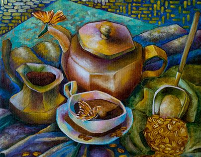 """Check out new work on my @Behance portfolio: """"Morning love black coffee"""" http://be.net/gallery/41064707/Morning-love-black-coffee"""