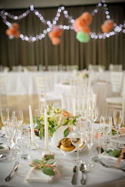 Svatební výzdoba sálu na svatební hostinu Martiny a Lukáše / Od Million Bells.