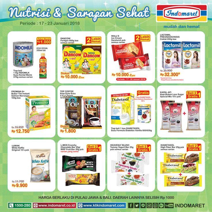 Promo #SuperHemat Nutrisi & Sarapan Sehat  Periode : 17 - 23 Januari 2018 Info promo lebih lengkap : https://goo.gl/mJ6K4z