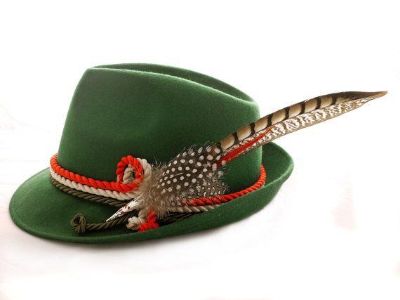 Sombrero alpino tricolore Italy por PaleasHat en Etsy