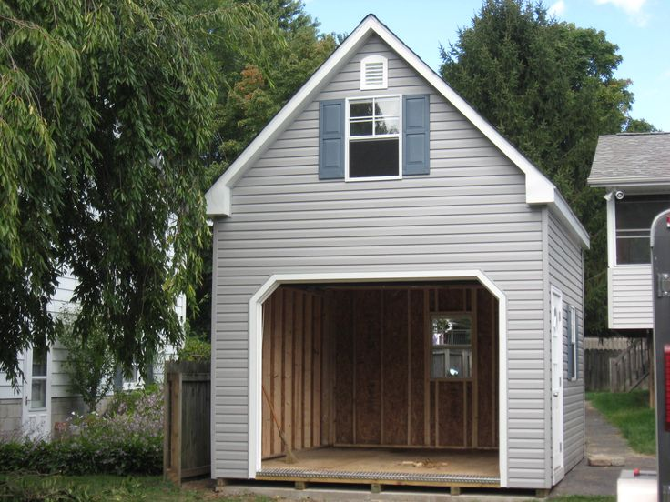 18 best two story single car garage stoltzfus structures for One car garage with loft