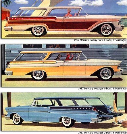 1957 Mercury Station Wagon  they need to bring these back!!! the real suv!!!