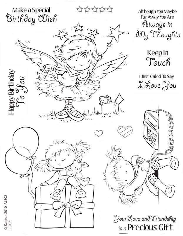 Kanban clear rubber stamps - Lucy
