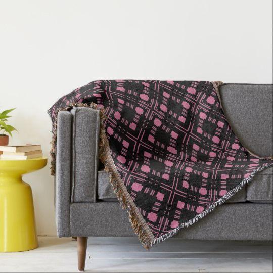 Черная и розовая наклонная ячейка.  Бросить одеяло