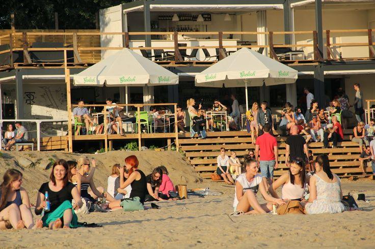 Plaża w Warszawie/ Temat Rzeka