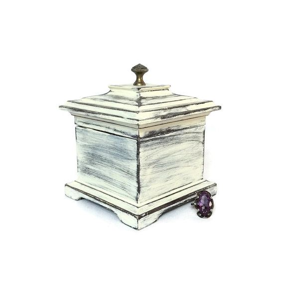 MUSIC JEWELRY BOX For Sale Wood White Jewelry Box by ShabbyShores