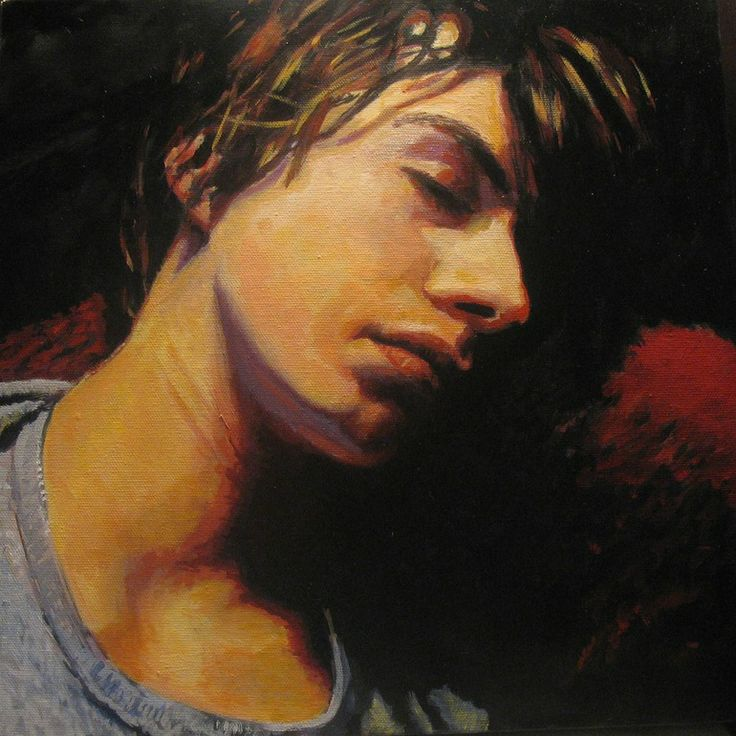 "Painting by Anne - 2009 - Saatchi Art Artist: Anne Eijsten; Oil 2009 Painting ""Sleeping boy"". This is one of my favorite paintings."