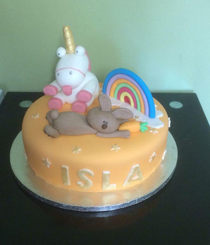 Rainbow Fart Unicorn Birthday Cake
