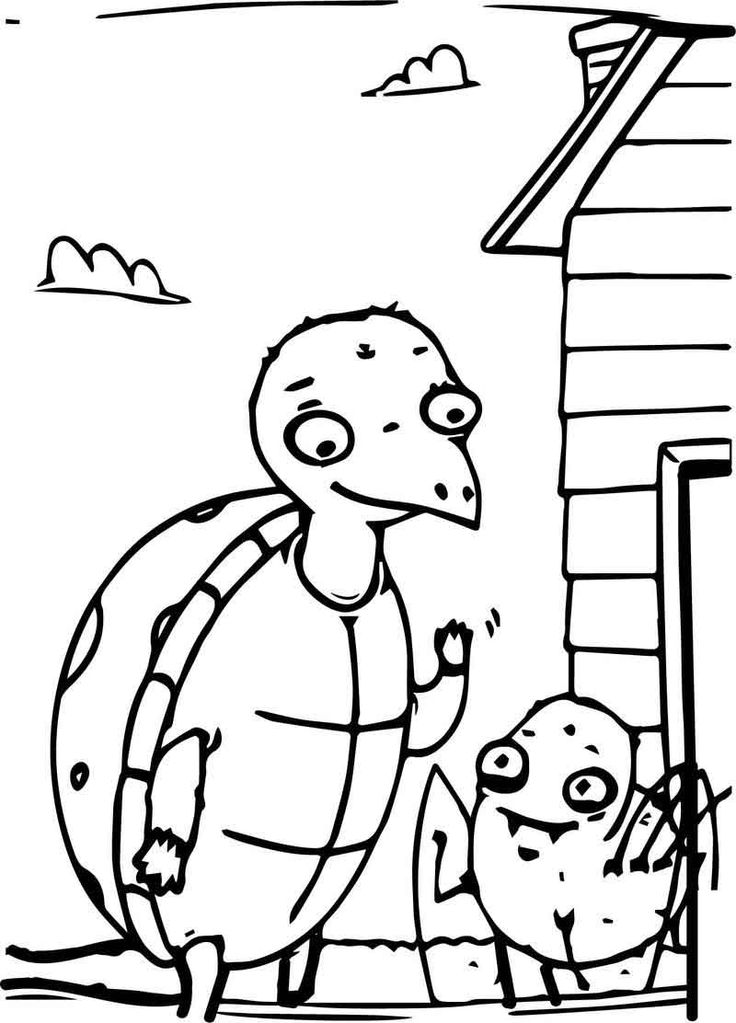 Anansi Family Coloring Page.