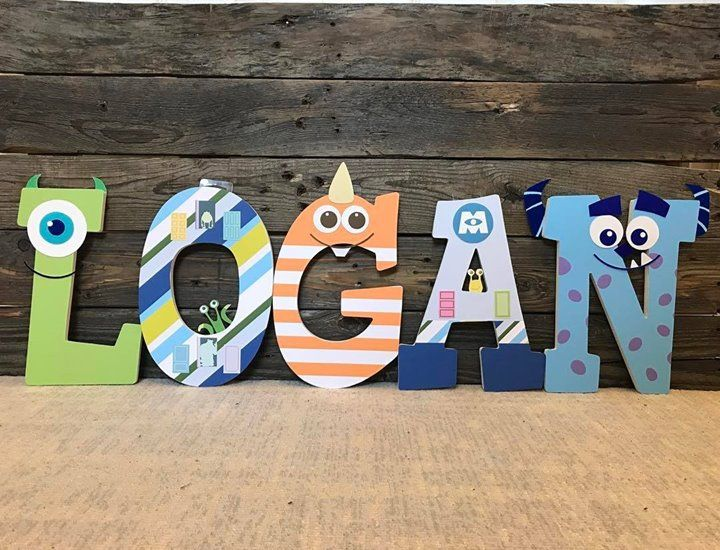 Monsters inc nursery letters #monstersinc #sully #mike #monsternursery #emmarydesign http://ift.tt/2ppJT4t emmarydesign.etsy.com emmarydesign.etsy.com