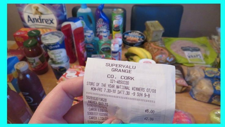 1st SuperValu Grocery Haul vrs Tesco Price - YouTube