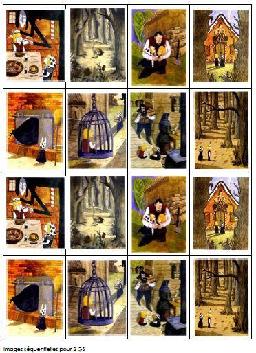 Hansel et Gretel en images séquentielles en couleurs