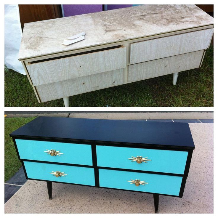 Vintage furniture revamps by Kat of 'My Little Rockabilly'