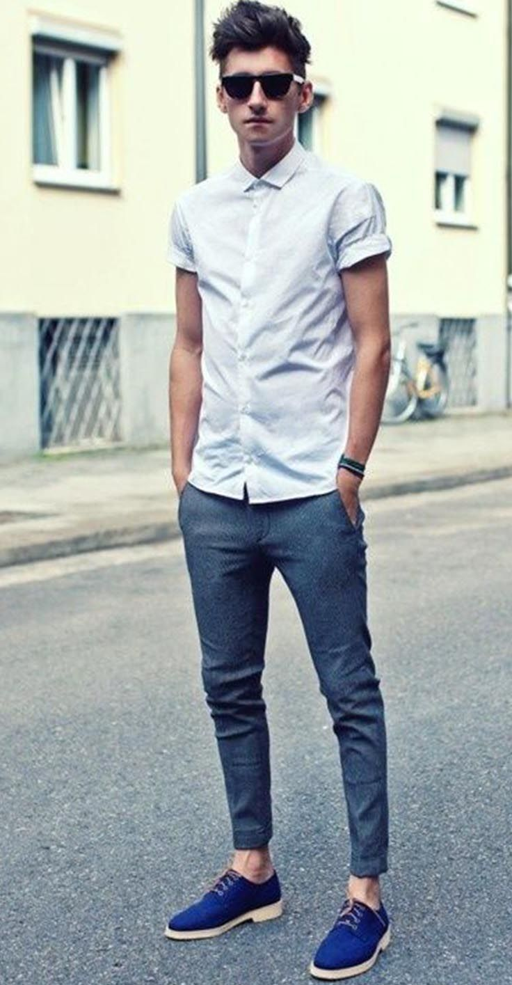 Hipster Outfit Sleeve Shirt With Short Pants Casual Outfits | Mens