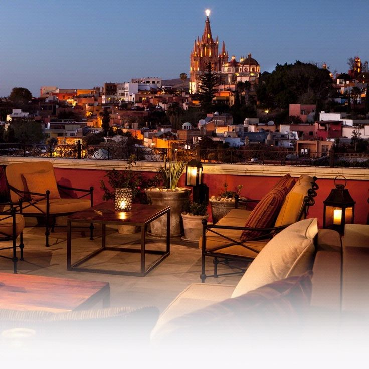Luna Rooftop Tapas Bar at the Rosewood in San Miguel de Allende, Mexico - can't beat the food and view!