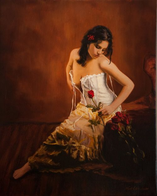 artbeautypaintings:  Thoughts of love - Mark Lovett