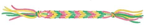 Hendes verden: Knytteskole med 6 tråde [macrame with 6 threads]