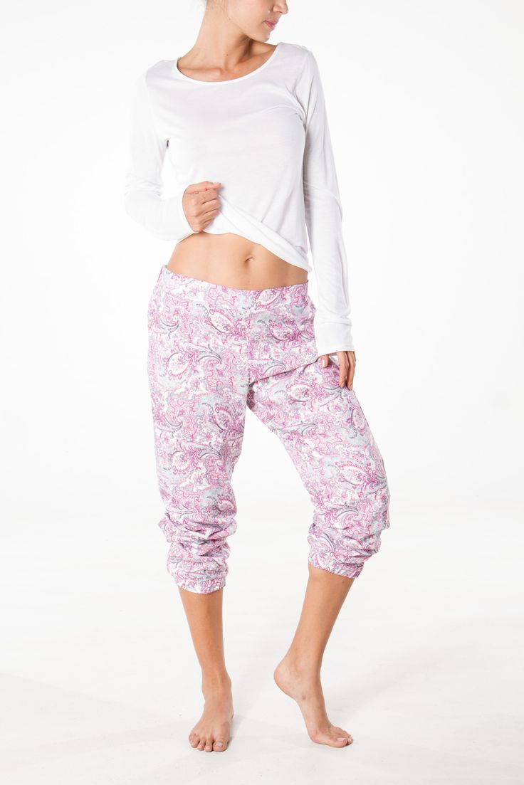 Arabesque pants, can be worn long or mid calf, long sleeve tee