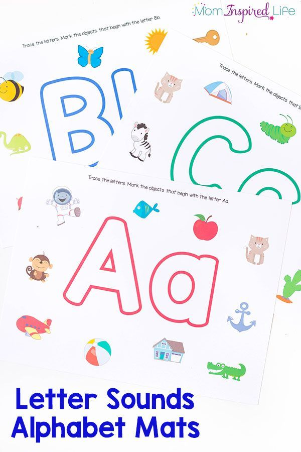 These alphabet mats are perfect for teaching the alphabet to preschoolers! It's…