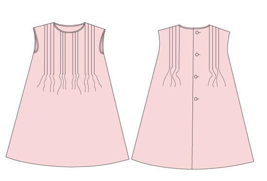 Vestido de niña con jaretas: DIY (patrón gratis) - Patronesmujer ...