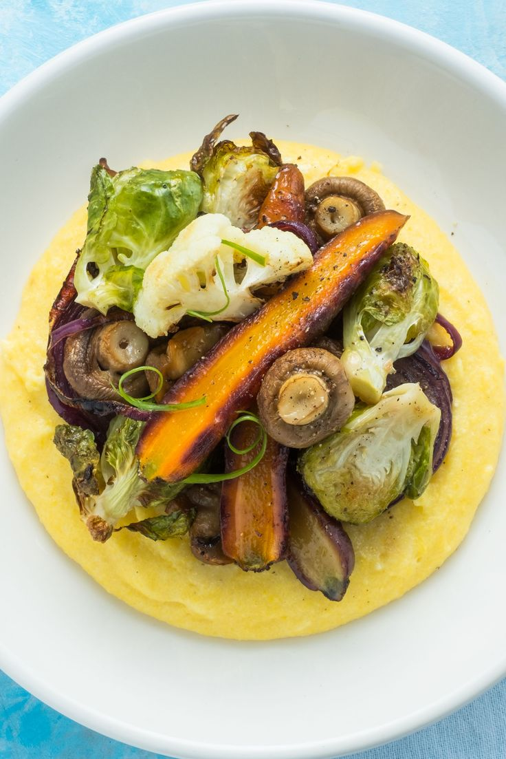 Polenta is a type of porridge made with cornmeal, to which we added succulent grilled vegetables for the perfect vegetarian dinner. Indulge carefully - it's addictive!