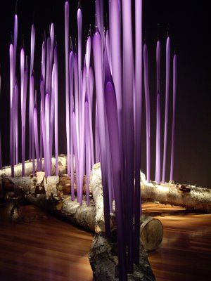 Dale Chihuly`s  Birch and Purple Spears