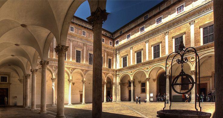 Urbino, the Ducal Palace courtyard