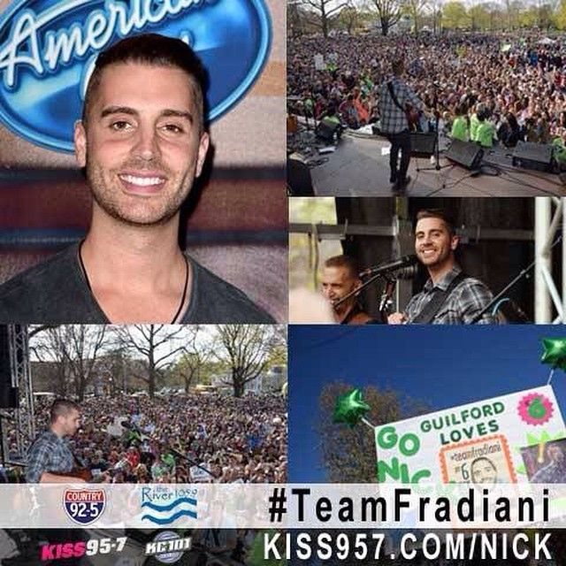 Connecticut's very own @nickfradiani is an #Idolfinalist, and we wanna make history - help Nick become the next @americanidol! #TeamFradiani - go to KISS95.7.com/Nick to find out how you can vote so @ryanseacrest can announce #NickFradiani as your next #AmericanIdol! #Idol