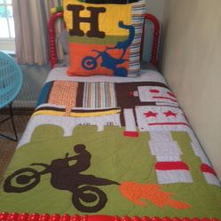 Dirt Bike Bedroom Ideas | ... Cotton Twin Quilt And Euro Sham For A