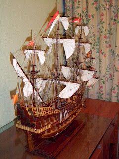 Maquetas de barcos: Este es el barco de San Juan Bautista y el precio esta en la foto