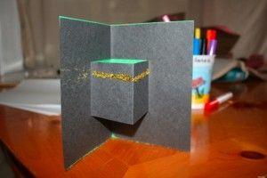 carte pop up kaaba ramadan enfant
