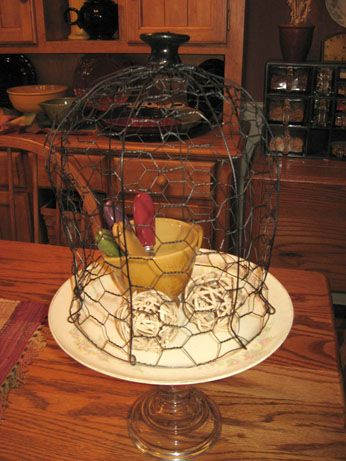 42 best glass cloche projects images on pinterest veggie for Chicken wire craft ideas