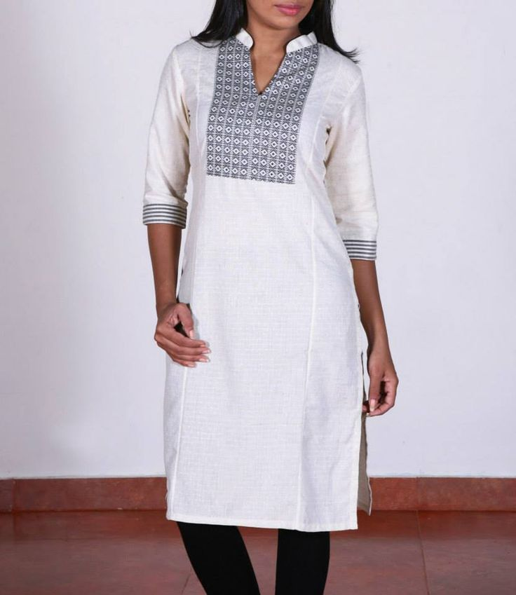 Shop for this collection at http://www.shalinijamesmantra.com/classic-creme/off-white-collared-kurta.html