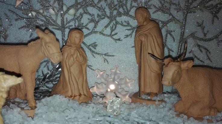 2016 presepe in terracotta - maria giuseppe bue e asinello - aspettando Gesu'