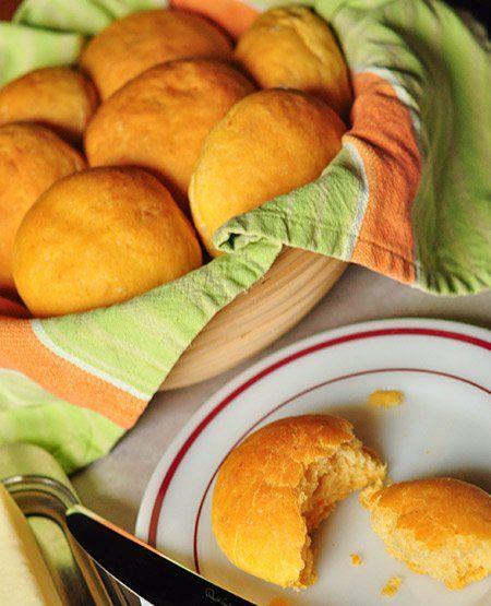 No-Knead Sweet Potato Dinner Rolls